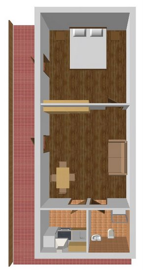 Апартаменты 3, план помещений